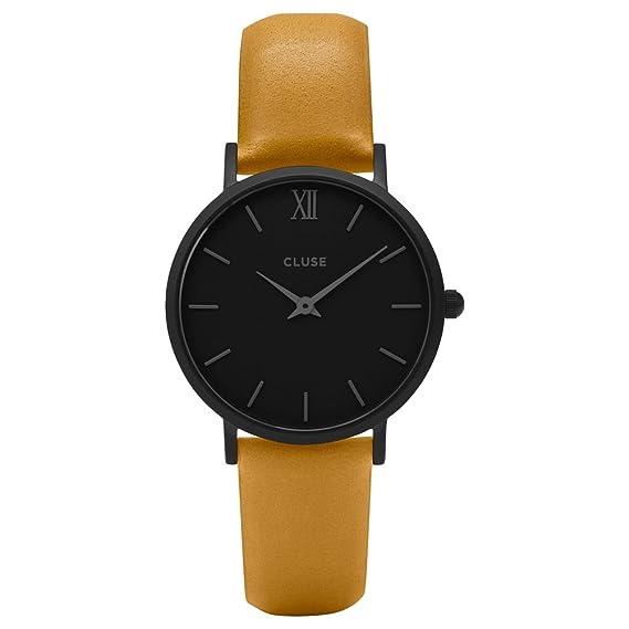 CLUSE Reloj Analógico para Hombre de Cuarzo con Correa en Cuero CL30033: Amazon.es: Relojes
