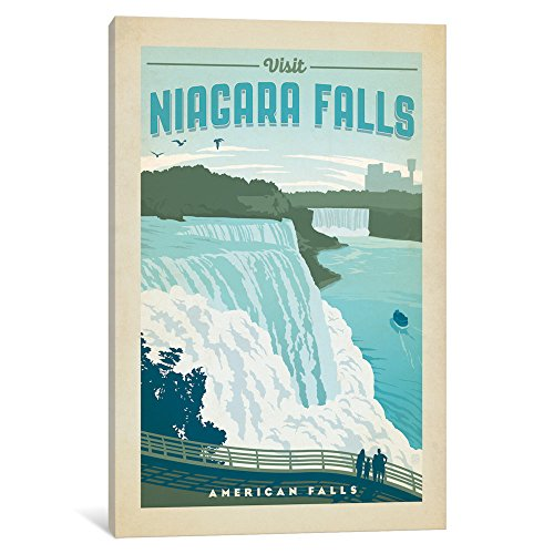 iCanvasART iCanvas Art & Soul of America National Parks Collection: Niagara (American Falls) Gallery Wrapped Canvas Art Print by Anderson Design Group, 18