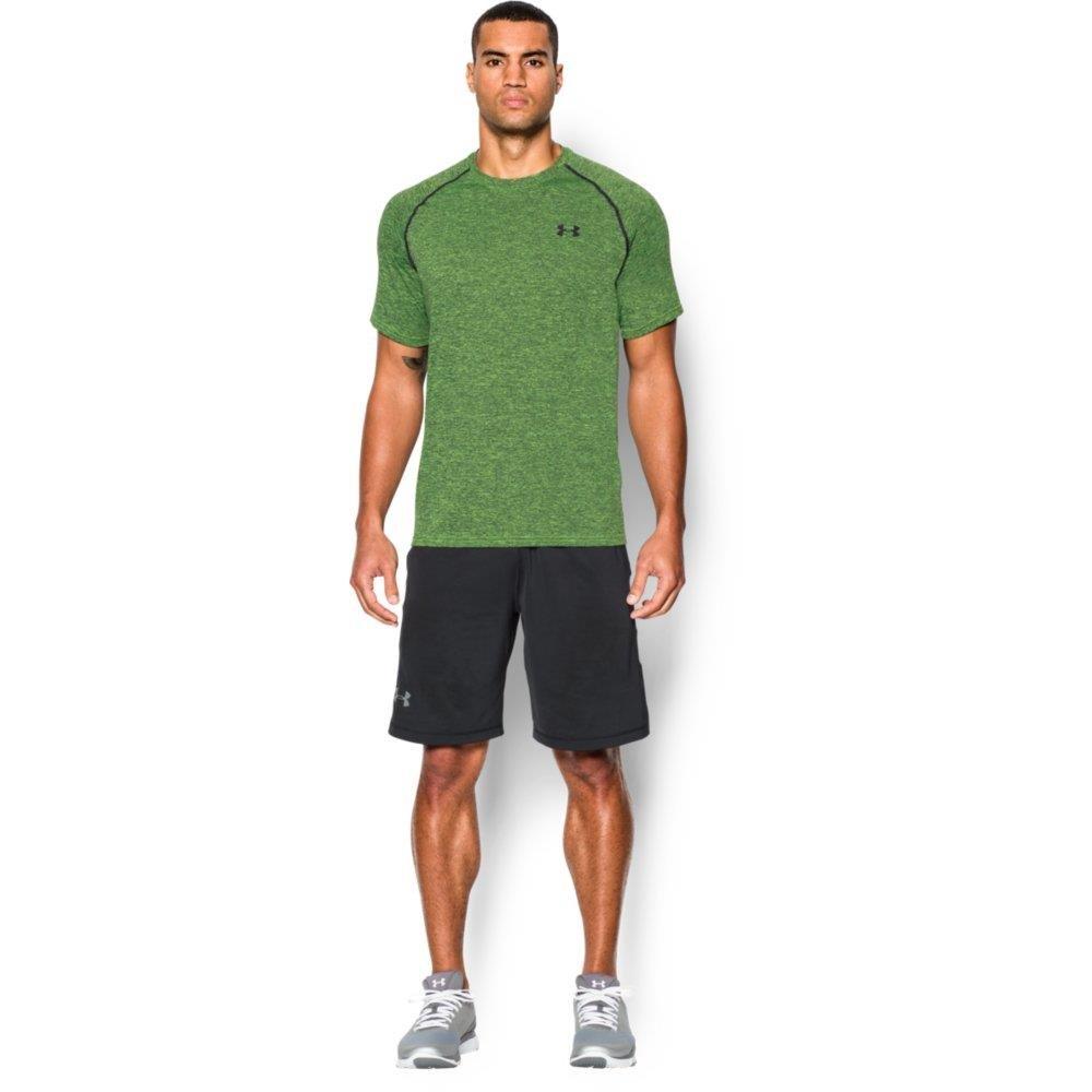 Under Armour Men's Tech Short Sleeve T-Shirt, Fuel Green /Black, Small
