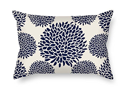 eyeselect Throw Pillow Case of Flower for Lover Pub Sofa Monther Drawing Room Study Room 20 X 30 Inches / 50 by 75 cm(Two Sides) for ()