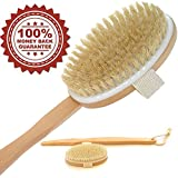 Bath Body Dry Brush Best for Lymphatic Drainage wash Toxin Away, Deep Cleansing