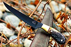 To make a custom hand made knife is a skillful art that requires hard work and careful attention. This marvelous knife is very impressive due to its excellent design and detail. We take great pride when designing our knives. The knife is well...