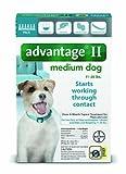 Bayer Advantage II Flea and Lice Treatment for Medium Dogs, 11 - 20 lb, 6 doses