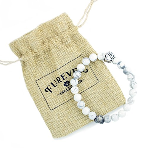 Pet Memorial Bracelet Gift - Limited Edition 22 Agate Bead - Provides 22 Meals for Shelter Animals In Honor of Your Beloved Pet