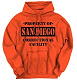 Property of San Diego, CA Prison The New Black Novelty TV Hoodie Sweatshirt