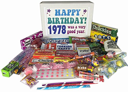 39th Birthday Gift Box of Nostalgic Retro Candy for a 39 Year Old Man or Woman - Born in 1978 - '70s Jr (Birthday Gift Deliveries)