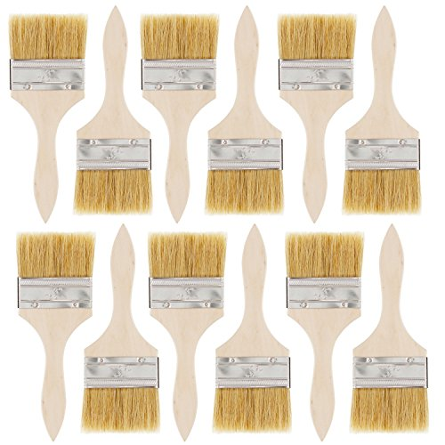 Chip Paint Brush - US Art Supply 12 Pack of 3 inch Paint and Chip Paint Brushes for Paint, Stains, Varnishes, Glues, and Gesso