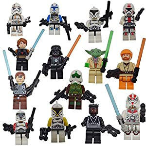14 Pcs Lego-Compatible Figures Action Figures Cake Topper Party Favor with Weapons - 51orG3yXefL - 14 Pcs Lego-Compatible Figures Action Figures Cake Topper Party Favor with Weapons