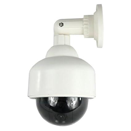 Masione® Cámara de vigilancia de imitación CCTV de interior tipo domo con LEDs rojos parpadeantes