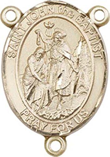 14K Gold Filled Saint John the Baptist Rosary Centerpiece Medal, 3/4 Inch ()