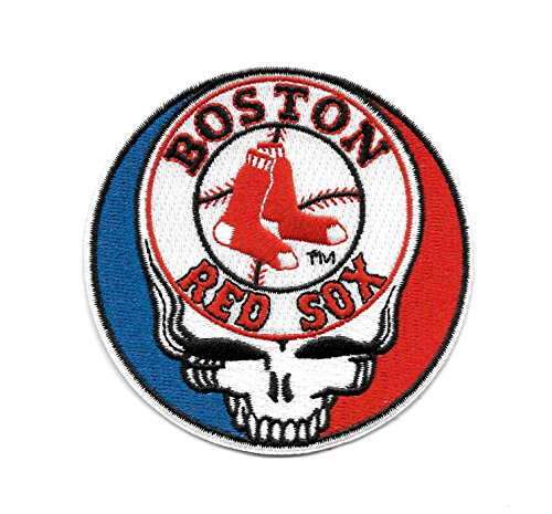 (Red Sox Steal Your Face Skull Embroidered Patch - Iron On)