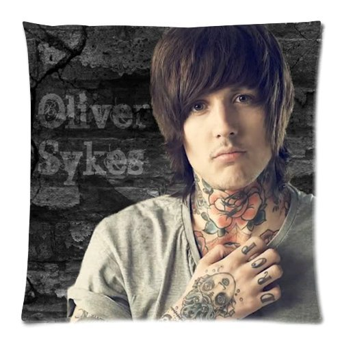 Generic Personalized British Metalcore Band Sheffield Yorkshire Bring Me The Horizon Singer Oliver Sykes Pattern Sold By Too Amazing Roomy Pillowcase Zippered Throw Pillow Case 18x18 inches (one sides)