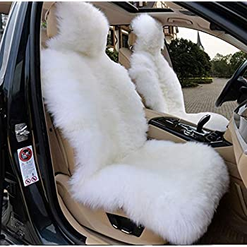 Amazing Amazon Com Oflba 1Pcs Faux Sheepskin Car Seat Cover For Suv Alphanode Cool Chair Designs And Ideas Alphanodeonline