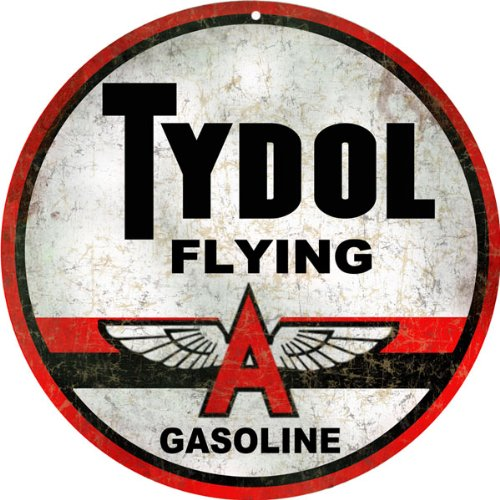 Tydol Flying A Gasoline Gas Station Reproduction Sign