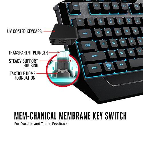 51orHGyuL%2BL - Cooler Master Devastator 3 Gaming Keyboard & Mouse Combo, 7 Color Mode LED Backlit, Media Keys, 4 DPI Settings