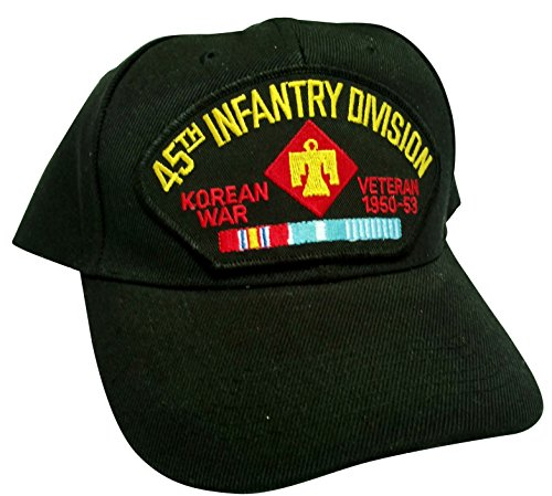 HMC US Army 45th Infantry Division Korea Veteran w/Service Ribbons Low Profile Adjustable Ball Cap