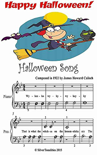 Halloween Song Beginner Tots Piano Sheet Music -