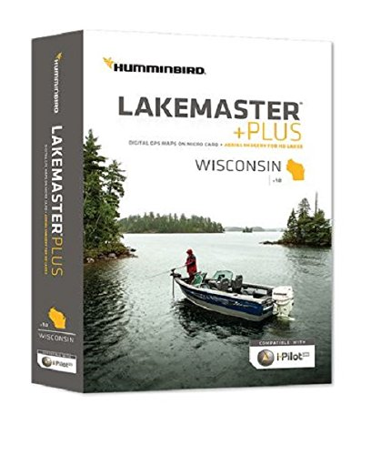 Humminbird Lakemaster Plus Wisconsin Contour Digital GPS Map, Black