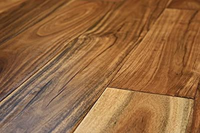 "Elk Mountain Acacia Natural Small Leaf 1/2"" x 4-3/4"" Hand Scraped Engineered Click Lock Hardwood Flooring AH262 SAMPLE"