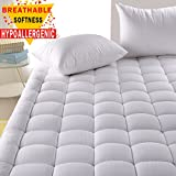 #3: Hypoallergenic Quilted Mattress Pad Cover with 300TC 100% Cotton Down Alternative Filled Mattress Topper,8-21 Inch Deep Pocket Mattress Cover (Full)