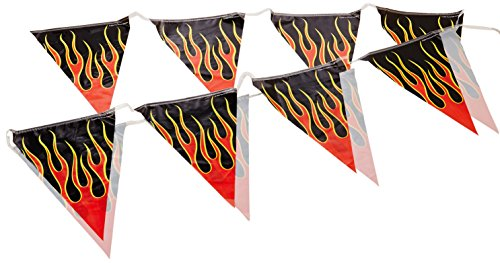 Flame Pennant Banner Party Accessory (1 count) (1/Pkg)