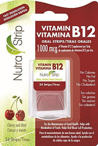 Nutra-Strip (Vitamin B12) Fast Dissolving Oral Strips / 2 Packs by Nutra