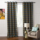 Cheap IYUEGO IYUEGOU Country Classic Household Dark Colored Palid Eco-friendly Grommet Top Lining Blackout Curtains Draperies With Multi Size Custom 50″ W x 84″ L (One Panel)