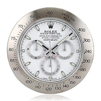 Reloj de pared reloj Rolex Daytona luminosa: Amazon.es: Hogar