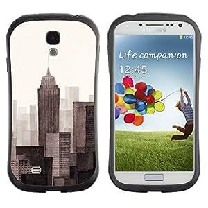 """Hypernova Slim Fit Dual Barniz Protector Caso Case Funda Para SAMSUNG Galaxy S4 IV / i9500 / i9515 / i9505G / SGH-i337 [Monótono Gris Beige pintado""""]"""