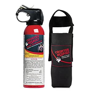 Counter Assault CA-12H/SB Bear Deterrent Spray with Hip Holster, 8.1-Ounce