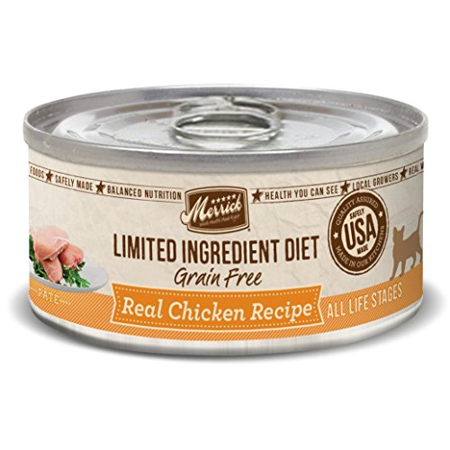 Merrick Limited Ingredient Diet Grain Free Chicken Canned Cat Food, 5 Oz., Case Of 24