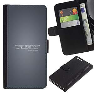 LECELL--Cuero de la tarjeta la carpeta del tirón Smartphone Slots Protección Holder For Apple Iphone 6 PLUS 5.5 -- Perfección motivación --