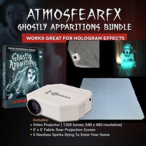 Atmosfearfx Ghostly Apparitions DVD Video Projector Kit with Hologram Screen ()