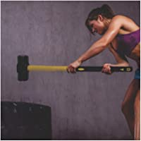 CW Usi HR6 Fitness Gym Hammer 6 Kg Gym Hammer/Sledgehammer Functional Training Cross Fitness No Joints, One Piece Welded Fiberglass Handle with Rubber Coating