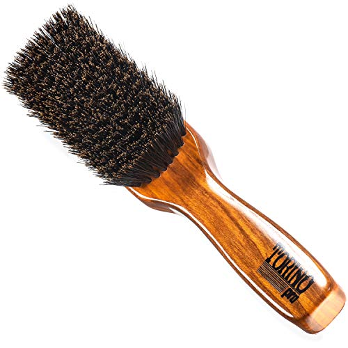 - Torino Pro Wave Brush #1480 - By Brush King - Medium Soft Styling 360 Waves Brush for the Crown, Beard and Mustache
