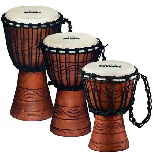 Nino Percussion NINO-ADJ2-XS Extra Small 7-Inch African Style Rope Tuned Djembe, Water Series by Nino Percussion
