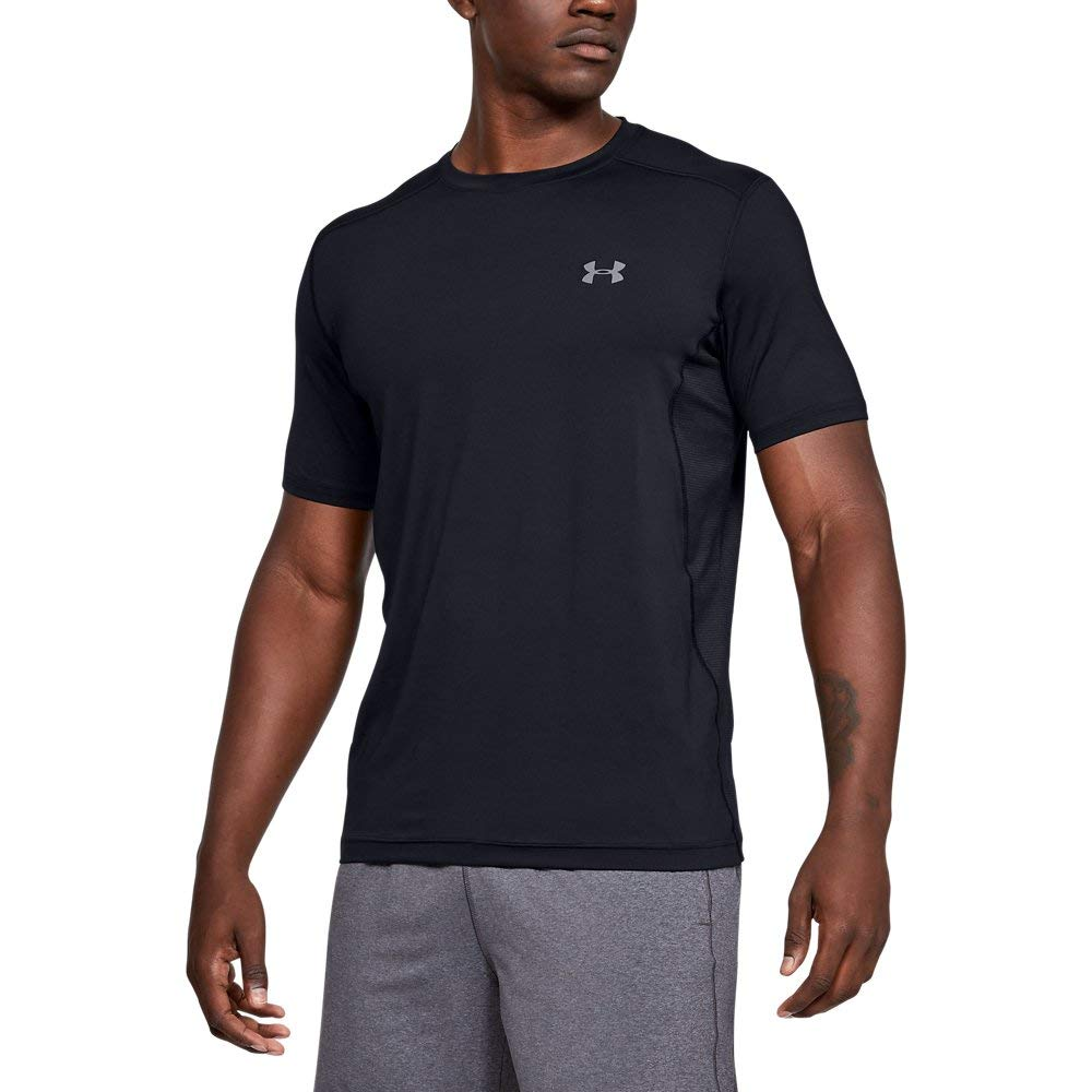 Under Armour Men's Raid S/S Tee, Black (001)/Graphite, Large by Under Armour