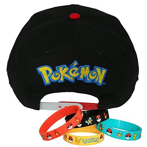 Pokemon Ball Power Team Snapback Cap Hat with Bracelet - Import It All e8ce15ae0c5d
