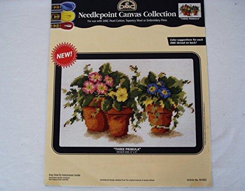 DMC Needlepoint Canvas Collection - Three Primula 6