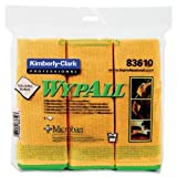 Wholesale CASE of 10 - Kimberly-Clark Wypall Microfiber Cloths-Microfiber Cloths,General Purpose,15-3/4''x15-3/4'',6/PK,YW
