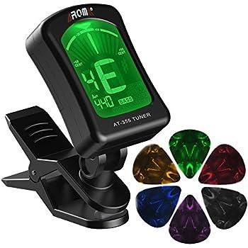 MIBOW Guitar Clip Tuner, 360-Degree Rotating Electronic Digital Tuner For Acoustic And Electric Guitars, Bass, Violin Mandolin, Banjo, High-Precision Calibration.Bonus-6 Packs Celluloid Guitar Picks