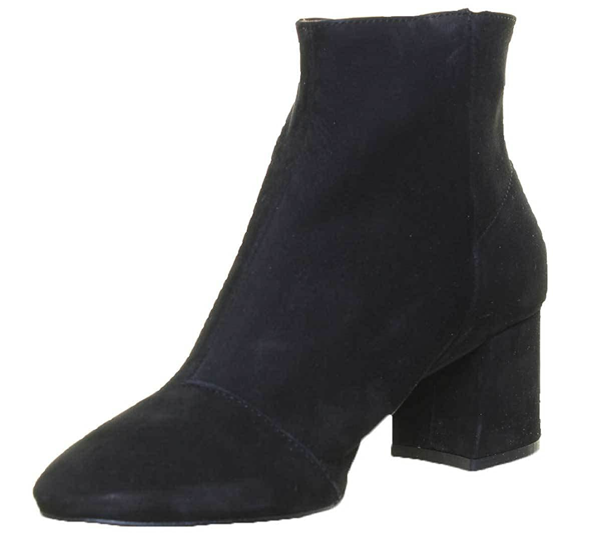 36703c02988c Amazon.com  Justin Reece 7300 Womens Super Soft Ankle Boots (3 UK, Black  Suede)  Shoes