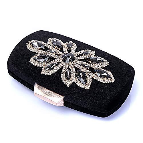 Bag Handbag Bag Women Micro With Long Party Small Crossbody Evening Purse Clutch Black Chain Prom Shoulder 5r5q0XF