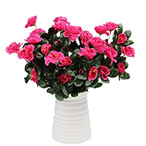 Mynse 2 Bunches Simulation Flowers for Home Decoration Women Gift Artificial Flowers Azalea 28