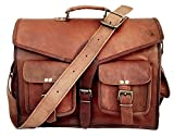 "IndianHandoArt 15"" Inch Leather Bag Leather Messenger Bag for Men and Women Crossbody Bags for Men and Women, ABB"