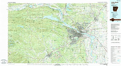 Little Rock AR topo map, 1:100000 scale, 30 X 60 Minute, Historical, 1985, updated 1988, 24.1 x 44 IN - Paper