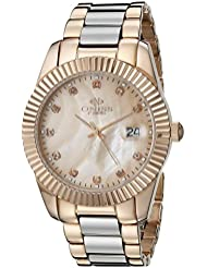 Oniss Paris Womens ON6019N-LRG Galaxy-Z2 Collection Analog Display Swiss Quartz Rose Gold Watch