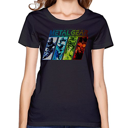 Price comparison product image Fashion Women's Metal Gear Solid Tee Black Size L