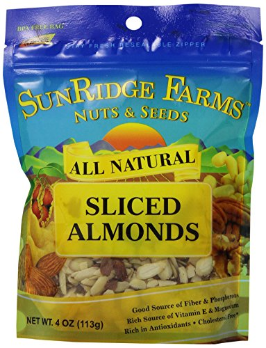 UPC 086700681787, Sunridge Farms Thin-Sliced Almonds, 4-Ounce Bags (Pack of 12)