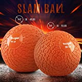 Yes4All Slam Balls (Orange) 20lbs for Strength and